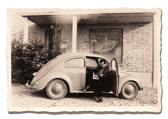Der erste Firmenwagen im Jahr 1952